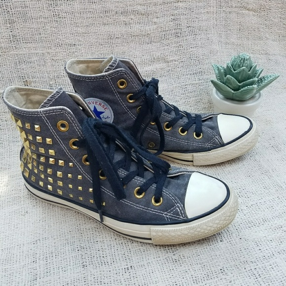 bf3e12aa2848 Converse Shoes - Limited Edition Gold Studded Converse High Tops